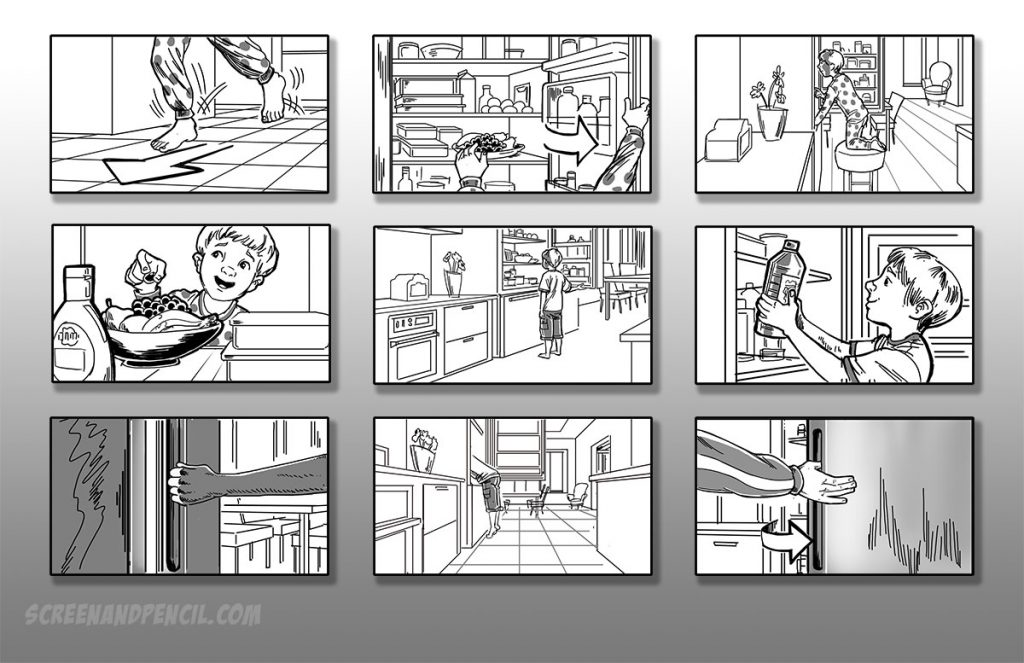 aDadvertising storyboards by Simon Turnbull
